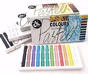 Jakar Artists Compressed Charcoal Pastels Stick Sets Coloured White Black Chalk