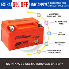 GEL 12V 7Ah Battery Motorcycle Aprilia RXV450  RXV550 SVX450 SVX550 YTX7A-BS AGM