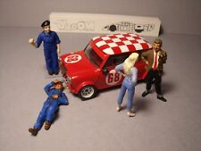 4  FIGURINES  1/43  SET 381  LA  MINI  DE  MR  BEAN  VROOM  UNPAINTED  NO  SPARK