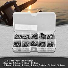 Variety Sizes Fishing Rod Tip Stainless Steel Guide Rings Repair Kit DIY Set SG