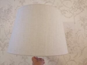 LAURA ASHLEY SHAPED LAMPSHADE IN AUSTEN NATURAL FABRIC  W35cm X H24cm