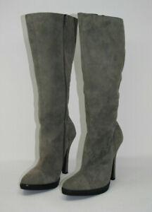 APART - Damen Wildlederstiefel - grau - leicht gefüttert - Gr.39