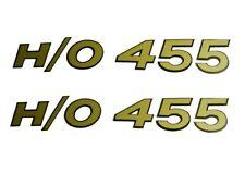 """1969 Cutlass 442 Hurst/Olds """"H/O 455"""" Hood Scoop Decal Set"""