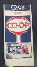 1960 Ohio  road map CO-OP  oil gas oil