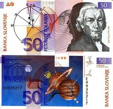 SLOVENIA 50 Tolar Banknote World Money Currency BILL Europe note p13 1992 Bill