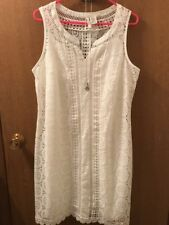 Miss Pinkey Women's White Sleeveless Dress Size Large—NWT—$49.99