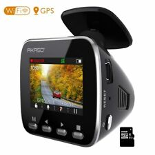 1080P Dash Cam Dashboard Rearview Recording Camera Car Dvr Wifi Gps Refurbished
