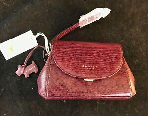 BNWT & Dust Bag RADLEY Waterloo Mini Flapover Leather Clutch Wristlet Bag