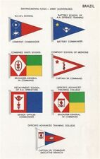 BRAZIL ARMY FLAGS NCO School AA Defence Officer's Advanced training College 1958