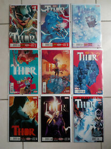 Thor 1 - 8 + annual Complete Lot Run Set Marvel Collection Jane Foster Aaron