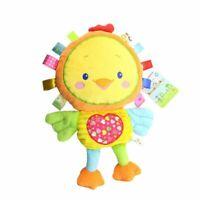 6 Styles Plush Rattle Toys Baby Toddler Appease Doll Elephant Monkey Rabbit New