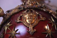 Vintage Brass/Bronze Spherical Chandelier Cherub/Masks/Stars