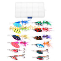 Coarse Fishing Lure Set Spinner Spoon Soft Swimbait Hook Tackle Trout Pike Perch
