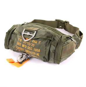 US Army Para Bag Paratrooper Belt Pouch Parachute Jumper Army Bag Olive