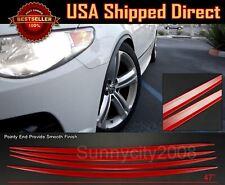 4 Pieces Flexible Slim Fender Flare Lip Extension Red Trim For  VW Porsche