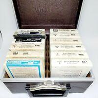 Lot of 12 Vintage 8-Track With Hard Case Elvis Presley