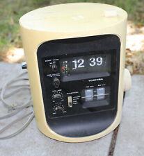 Vintage Toshiba Digital Home Clock Radio Model RC-693F Tower Flip AM/FM RARE