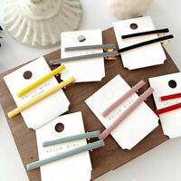 2Pcs Fashion Women Acrylic Hair Clips Barrette Stick Hairpins Hair Accessories