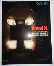 *Kubota Dealers M100GX M110GX M126GX M135GX Tractor Sales Brochure literature ad
