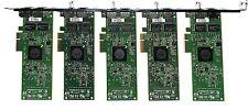 LOT 5X - HP 2-Port PCIe x4  Gigabit Network NC382T 453055-001 458491-001
