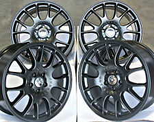 "18"" CH STYLE MB ALLOY WHEELS CROSS SPOKE MATT BLACK 5X112 18 INCH ALLOYS"