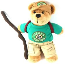 Grand Canyon Teddy BEAR Plush 2011 Stuffed Animal w/ Backpack & Walking Stick