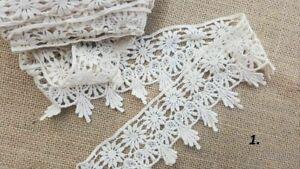 10m Vintage Cotton crochet lace trim CREAM IVORY Ribbon wedding/cake decoration