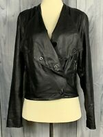 BlankNYC Blank NYC Black Faux Leather Fitted Slim Moto Biker Jacket Size Small