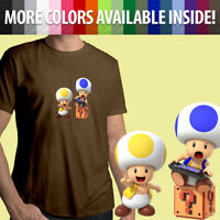 Nintendo Super Mario Bros Toad Wii U Switch Gamer Unisex Mens Tee Crew T-Shirt