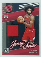2019-20 Panini Donruss Jersey Series Coby White Rookie RC #JS-CWH, Bulls, Insert