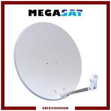 Parabole Acier Ø 80 cm Gris Clair Gain 38,5 dB Megasat TNTSAT FRANSAT