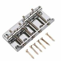 Vintage 4 String Bass Bridge For Fender Jazz P Bass Guitar Parts Chrome