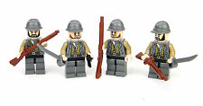 custom LEGO(R) Confederate CSA Soldiers with Custom muskets and Revolver