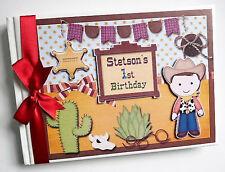 Vaquero/Vaquera Personalizado/First/1ST cumpleaños del libro de visitas-Cualquier Diseño