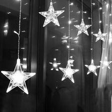 2.5M Curtain Light LED Star Christmas Garland 220V EU Outdoor String Fairy Lamp