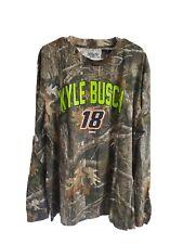 #18 Kyle Busch camo ls t-shirt NWT size 3X