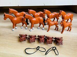 LEGO - x8 Belville Horses Dark Orange from set 7585 and 7587