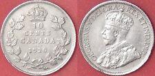 Very Fine 1920 Canada Silver 10 Cents