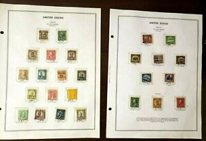 1922-25 United States Postage Stamps Lot of 26 (1 cent through Five Dollar