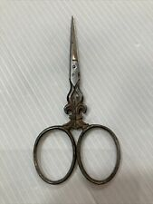 Paire de ciseaux à couture ancien - old scissors sewing - fleur de lys J.D.L.