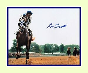 Secretariat Ron Turcotte Belmont Triple Crown 11x14 mtd 8x10 Photo reprint sig