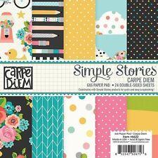 Simple Stories  Carpe Diem 6 x 6 Paper Pad