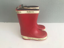 BNWT Little Boys Size 10 Rivers Doghouse Brand Red with cream Gumboots