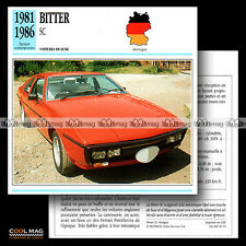 #081.14 BITTER SC (Moteur OPEL) 1981-1986 - Fiche Auto Car card