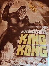 Affiche publicitaire cinéma revanche KinKong film japonais 1967 Ishirô Honda