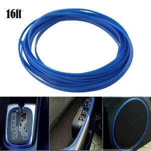 16FT Car Interior Door Gap Panel Edge Line Molding Trim Strip Insert Decor Blue