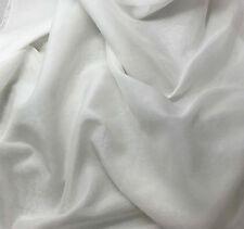 """Silk/Cotton Voile Batiste Fabric WHITE 54"""""""