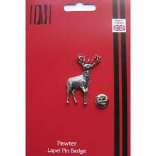 Stag Pewter Lapel Pin Badge MALE RED DEER PUB OWNER HUNTER Birthday Present