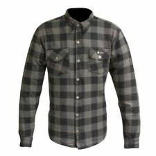MERLIN AXE CASUAL GREY CHECKED ARMOURED SHIRT LARGE