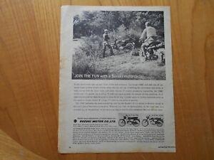 Vintage Suzuki Motor Cycle Advert -- Original -- from 1963